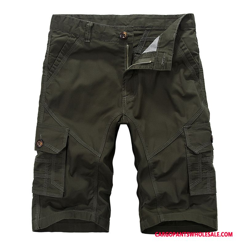 Capri Pants Male Army Green Khaki Cargo Pants Casual Pants Men Capri Pants Straight Outdoor