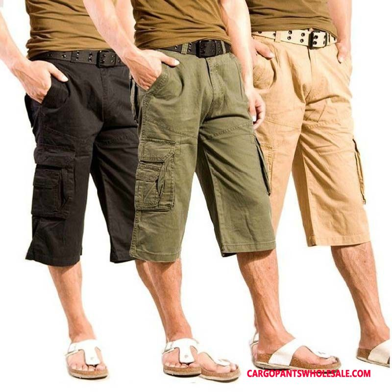 Capri Pants Male Army Green Pants Clearance Men Capri Pants Cargo Pants Cotton