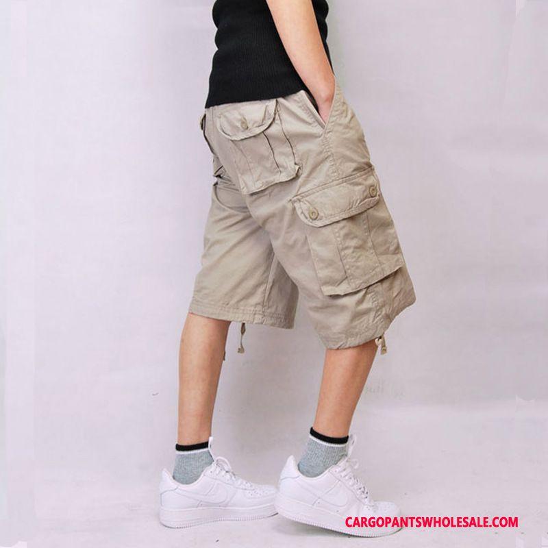Capri Pants Male Army Green Selling Medium Pants Shorts Large Size