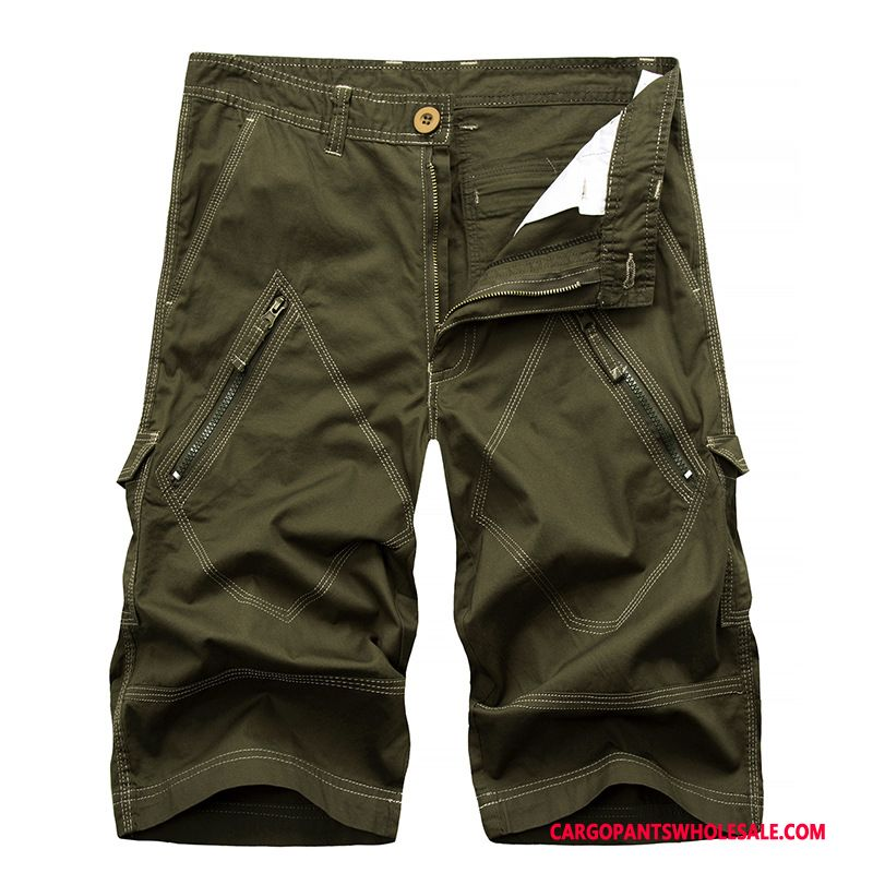 Capri Pants Male Army Green Shorts The New Europe Pants Sweatpants