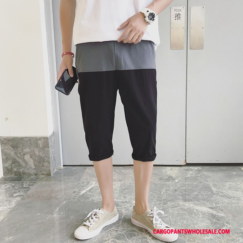 Capri Pants Male Black Green Harlan Motion Summer The New Tide