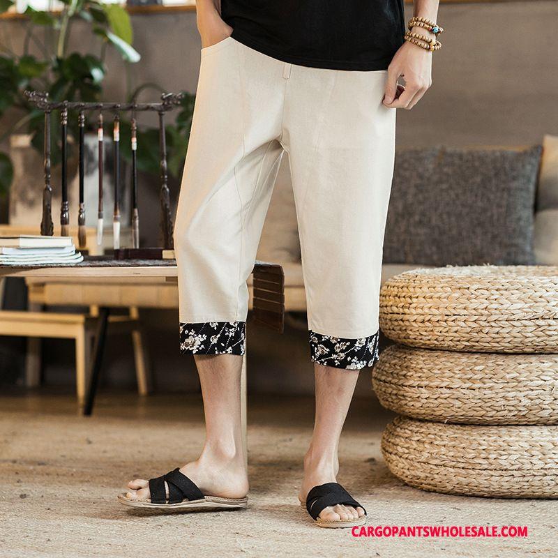 Capri Pants Male Black Green Pants Fat Man Men Small Summer Capri Pants