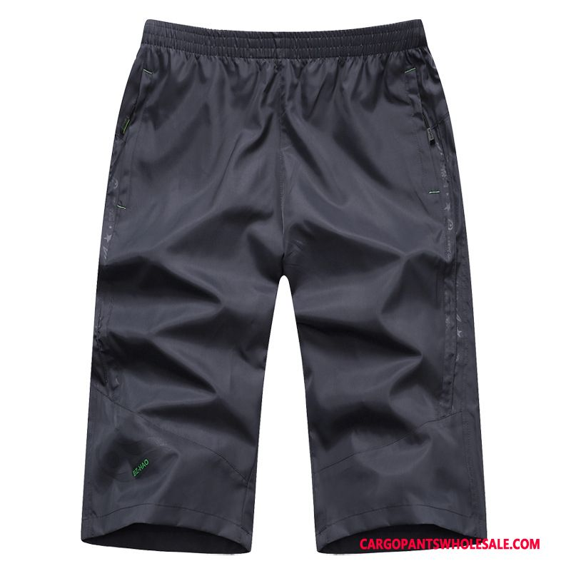 Capri Pants Male Black Summer Shorts Men Plus Size Pants Cargo Pants