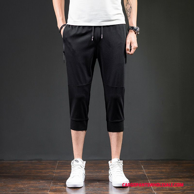 Capri Pants Male Black The New Beam Foot Men Capri Pants Leisure Summer