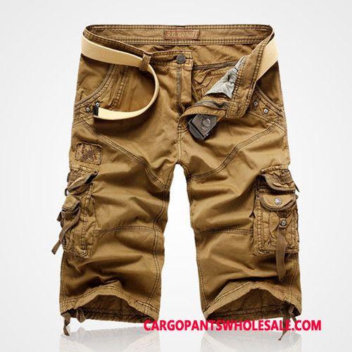 Capri Pants Male Blue Large Size Boutique Men Cotton Leisure Cargo Pants