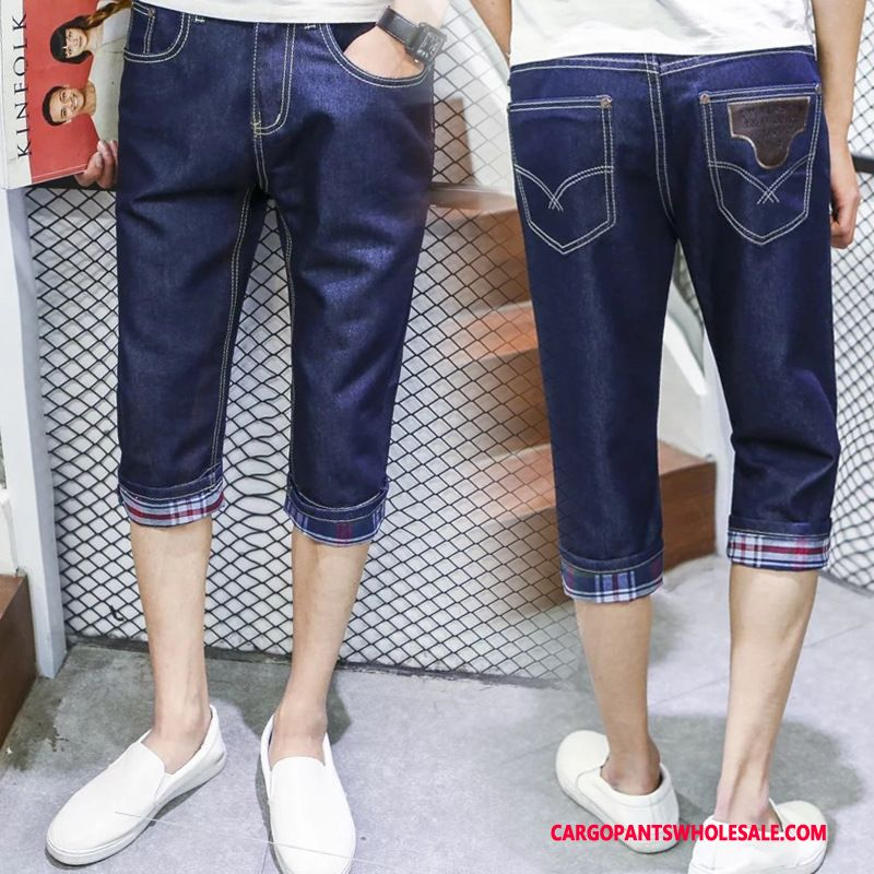 Capri Pants Male Blue Pants The New Men Handsome Leisure Summer
