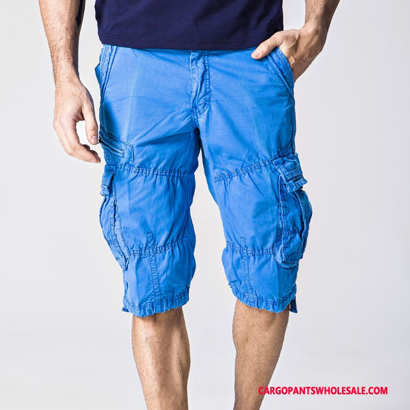 Capri Pants Male Blue Shorts Lace The New Outdoor Fitness