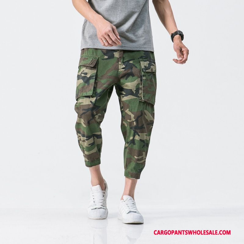 Capri Pants Male Camouflage Summer Capri Pants Men Loose Leisure Tide