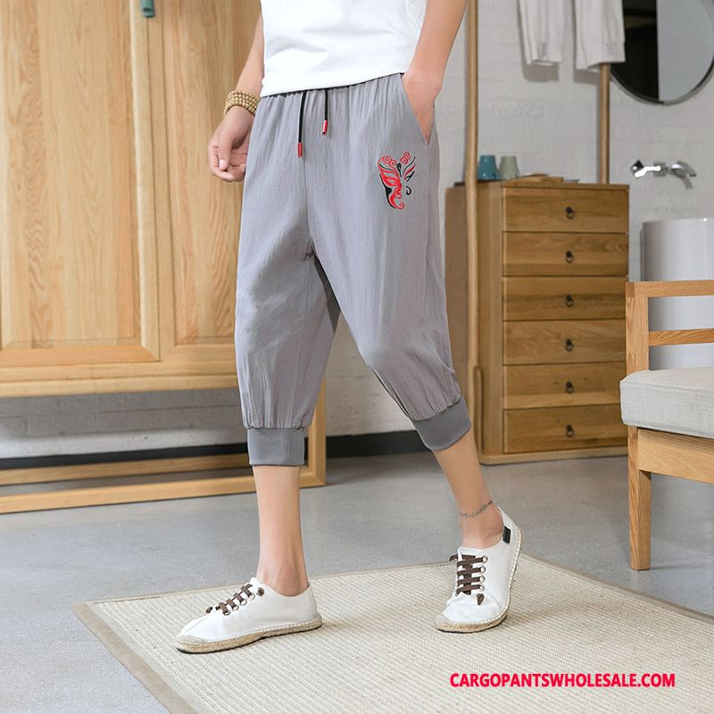 Capri Pants Male Gray Summer The New Men Harlan Beam Foot Loose