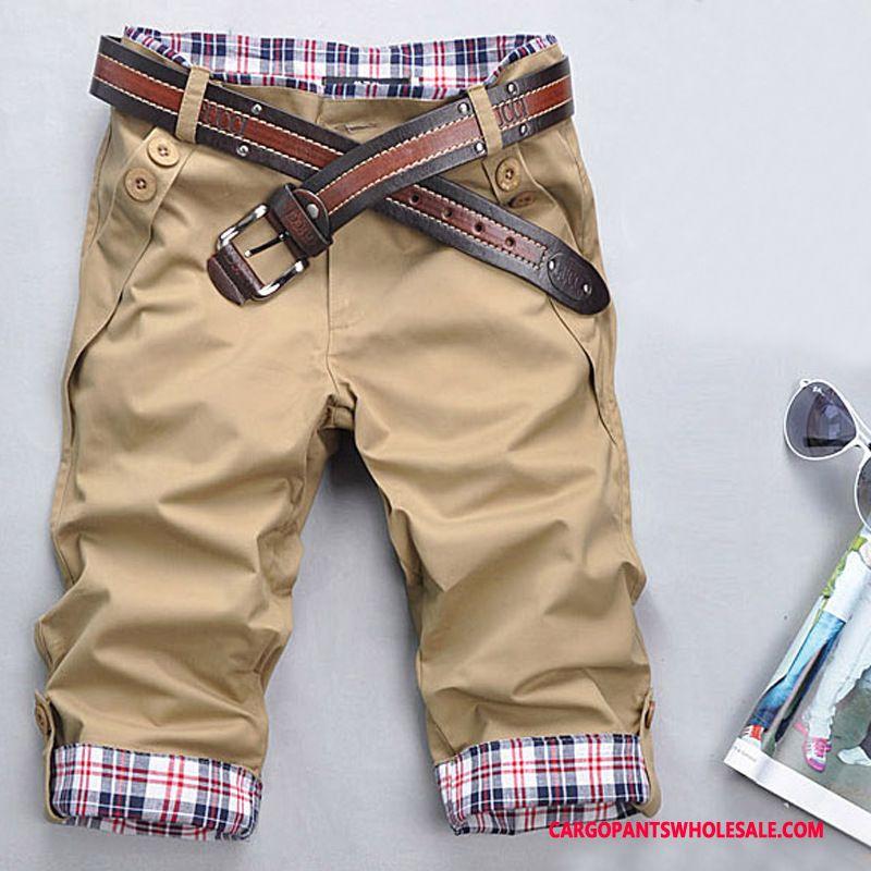 Capri Pants Male Khaki Capri Pants Original Men Men Leisure Casual Pants Cargo Pants