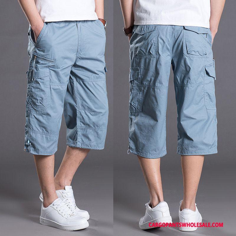 Capri Pants Male Light Blue Motion Medium Men Summer Leisure Trend