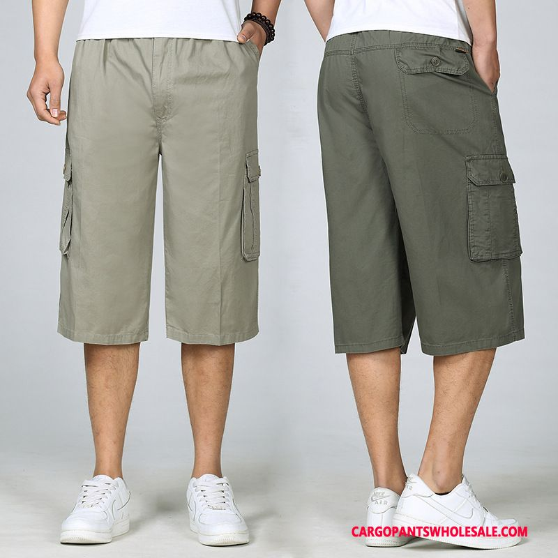 Capri Pants Male Middle Aged Capri Pants Medium Beach Summer