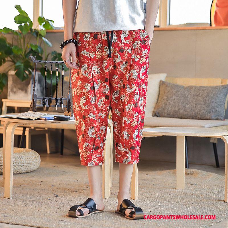 Capri Pants Male Red Shorts Big Summer Harlan Capri Pants
