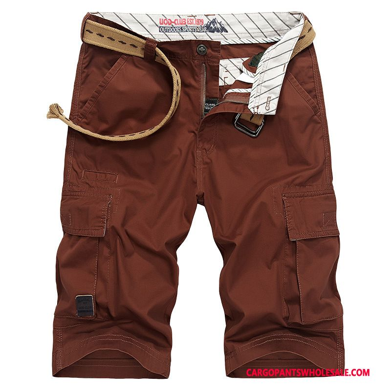 Capri Pants Male Red Shorts Leisure Men Pants Shorts All Match