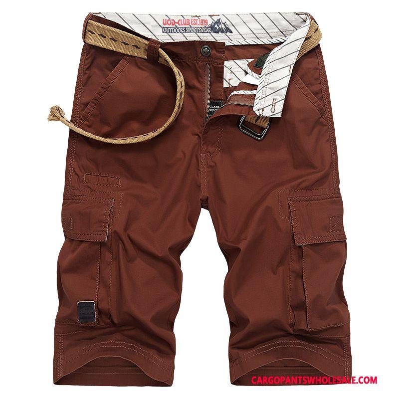 Pantacourt Cargo Homme Rouge Short Pantalons Homme Cargo Été Short