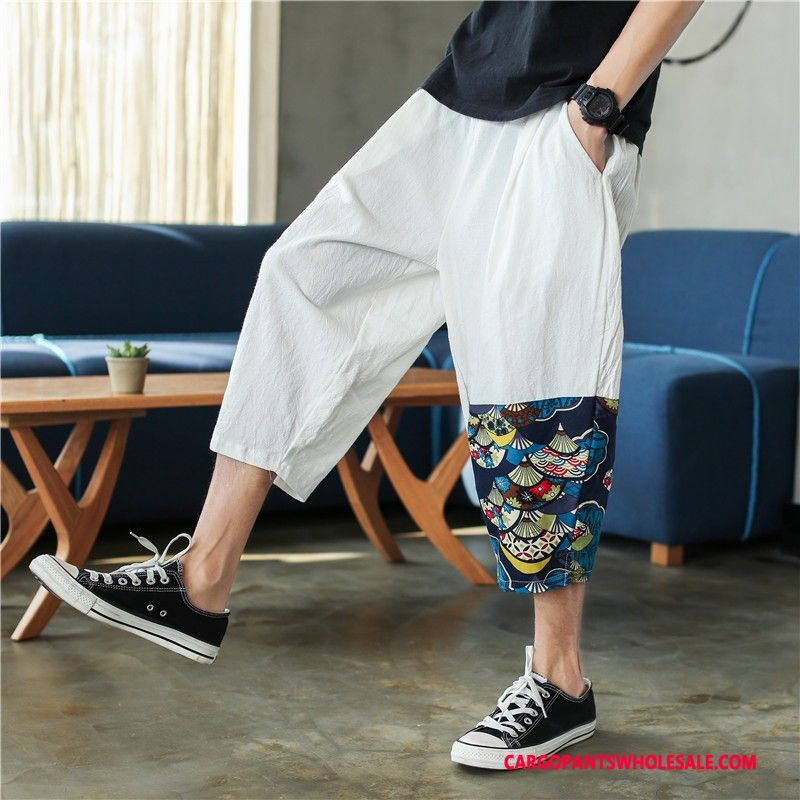 Capri Pants Male White Capri Pants Leisure Men Summer Shorts Trend