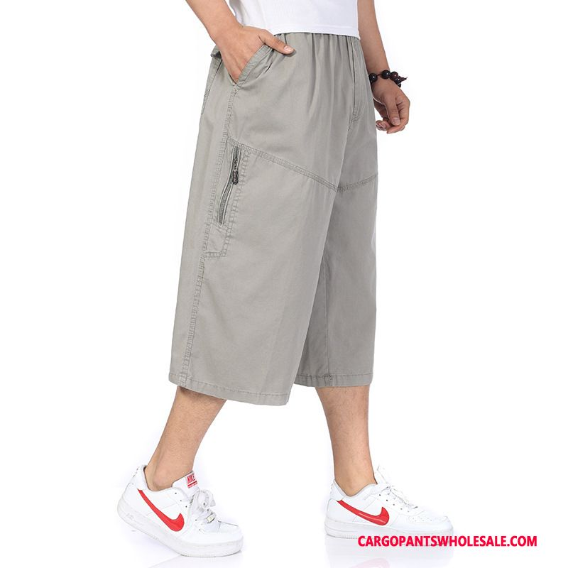Capri Pants Man Pants Summer Male Capri Pants Shorts Fat