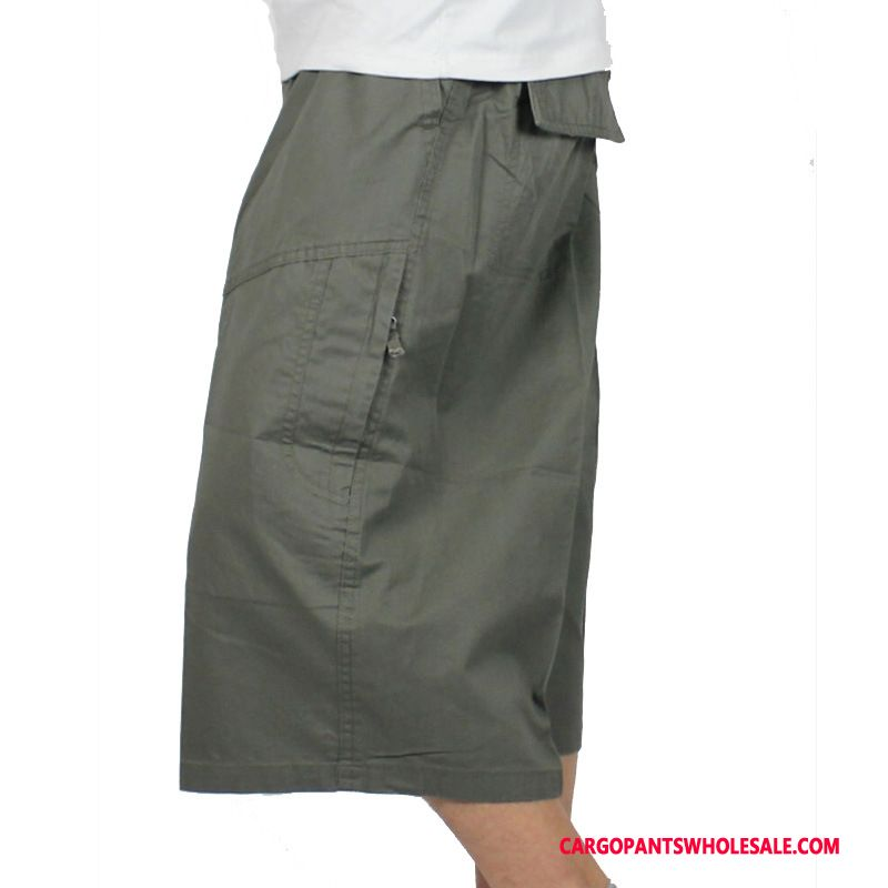Capri Pants Men Army Green Pants Plus Size Cotton Fat Man Shorts