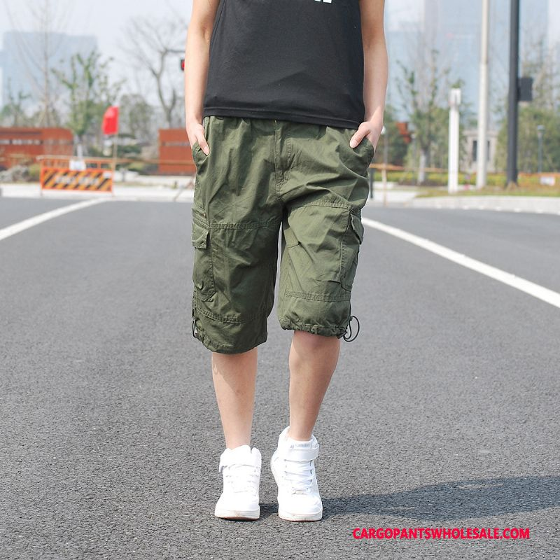 Capri Pants Men Army Green Summer Motion The New Cargo Pants Leisure