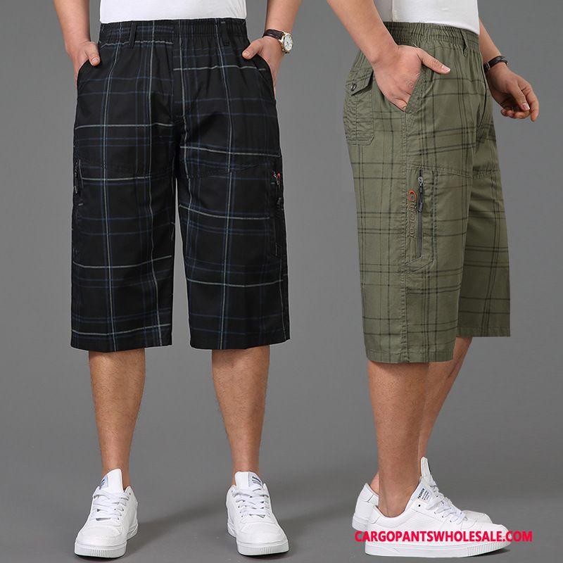 Capri Pants Men Black Casual Pants Capri Pants Medium Summer Cargo Pants