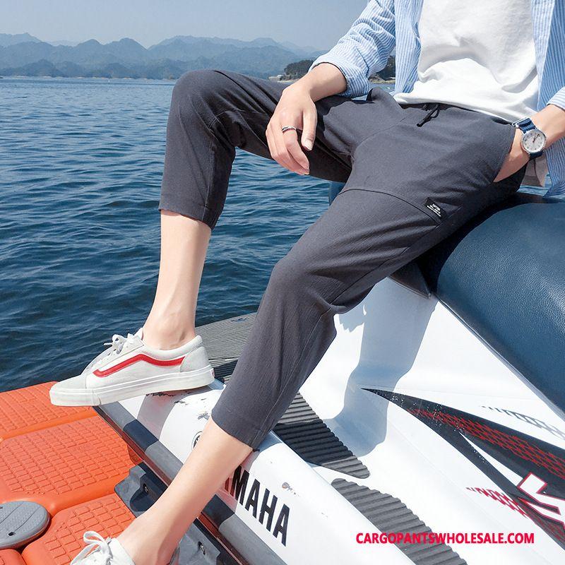 Capri Pants Men Black Green The New Capri Pants Fashion Casual Pants Summer