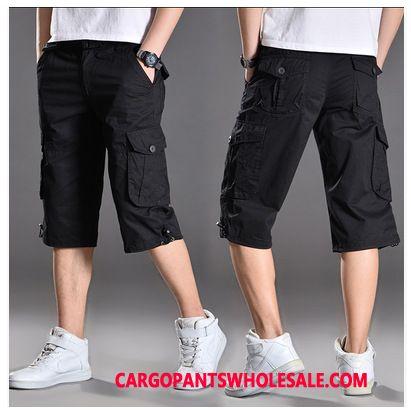 Pantacourt Cargo Homme Noir Short De Plein Air Pantalon Cargo Sport Été