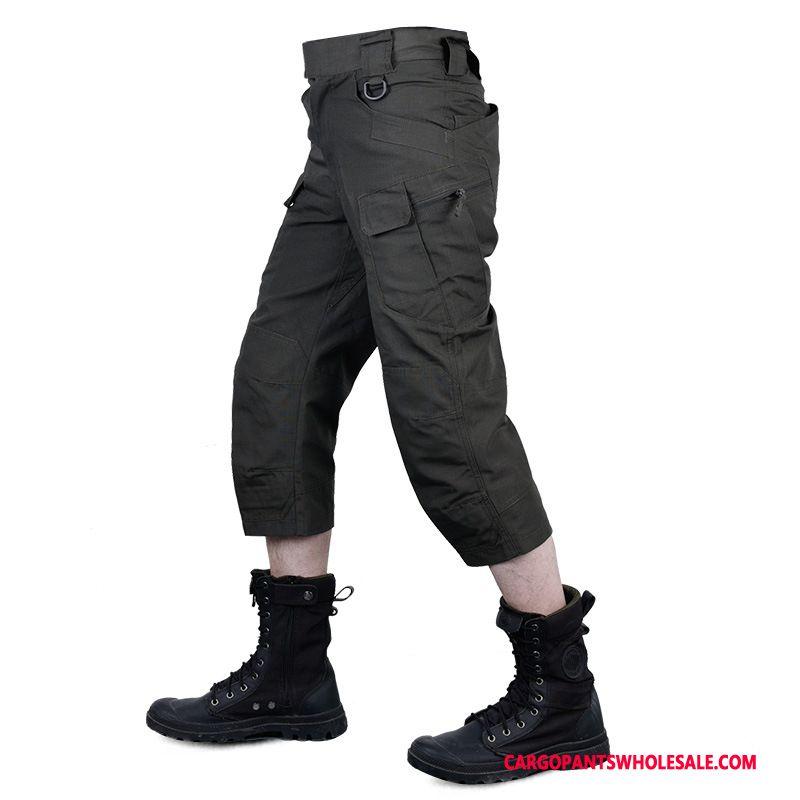 Capri Pants Men Black Pants Cargo Pants Outdoor