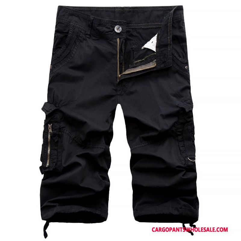 Capri Pants Men Black Shorts Large Size Trend Leisure Pants