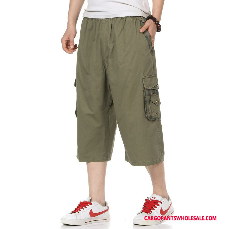 Capri Pants Men Gray Leisure Large Size Wear Outside Pants Summer