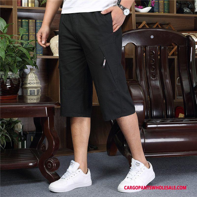 Capri Pants Men Gray Summer Pants Medium Capri Pants Large Size