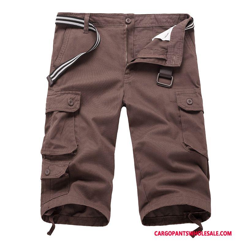 a749d6363852a ... Pantacourt Cargo Homme Bleu Pantalons Baggy Grande Taille Légère Été ...