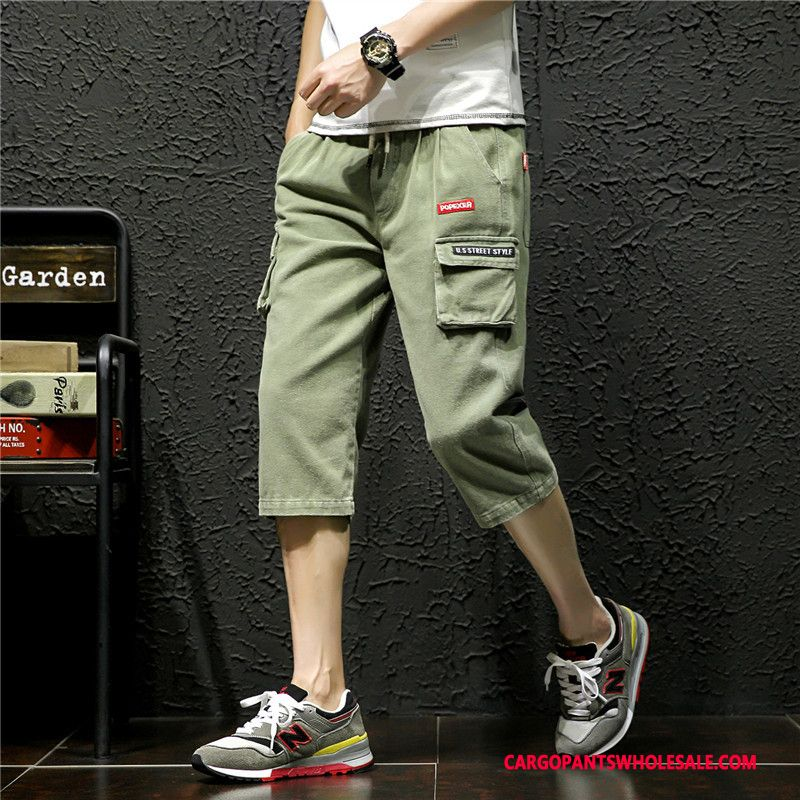 Capri Pants Men Green The New Capri Pants Shorts Large Size Summer