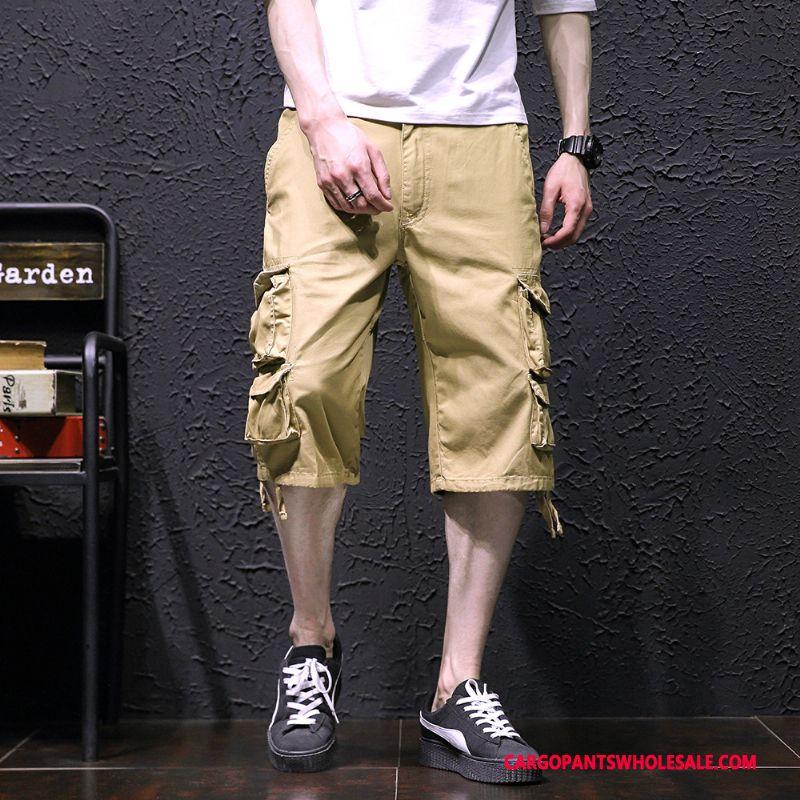 Capri Pants Men Khaki Pants Leisure Selling Cargo Pants Medium