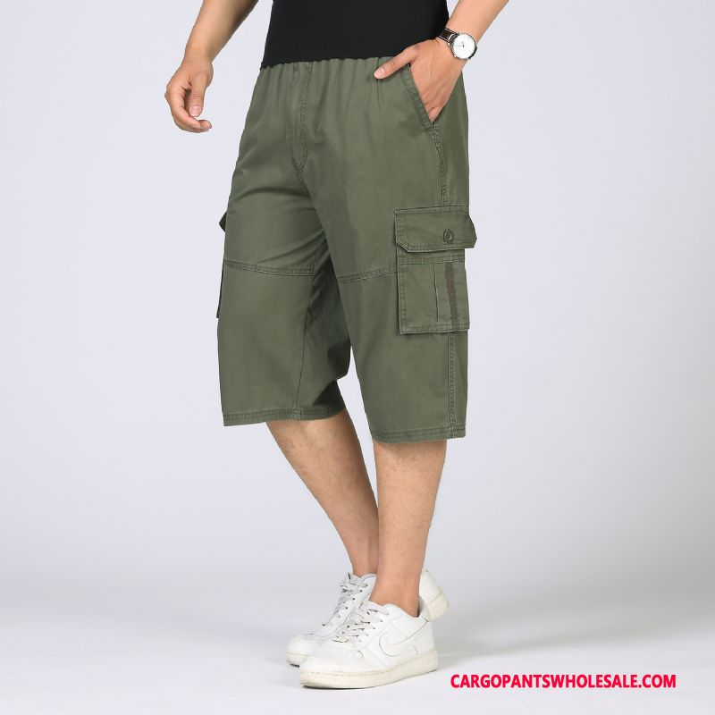 Capri Pants Men Solid Color Fashion Europe Plus Size Casual Pants