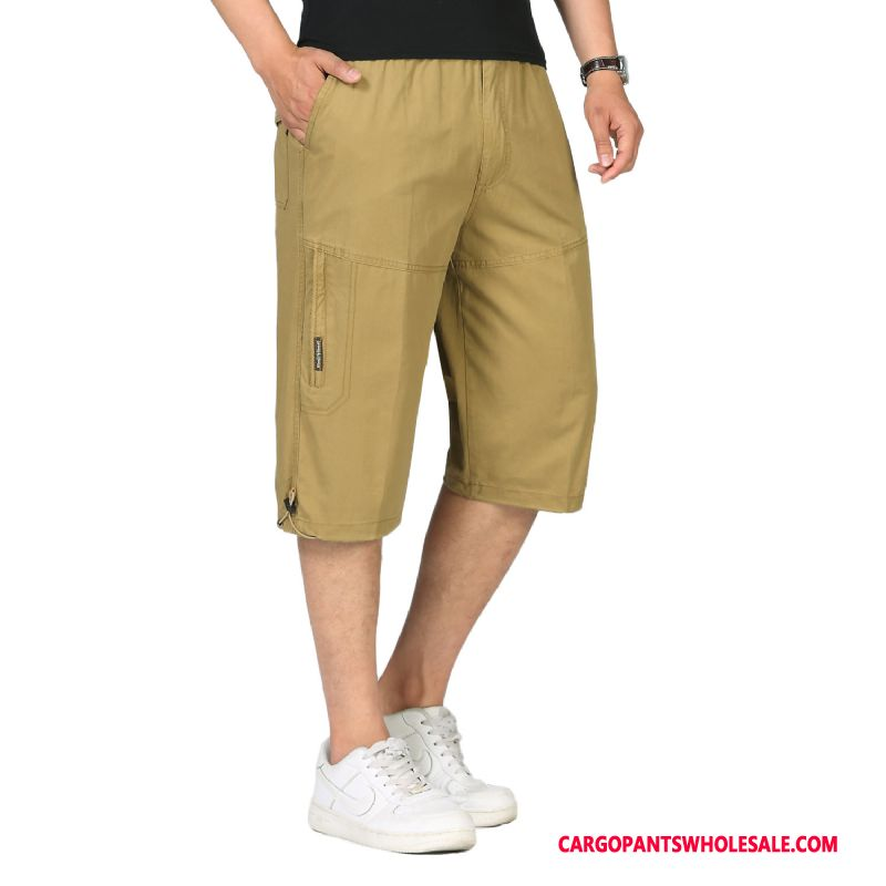 Capri Pants Men Yellow Selling Shorts Capri Pants Cotton Cargo