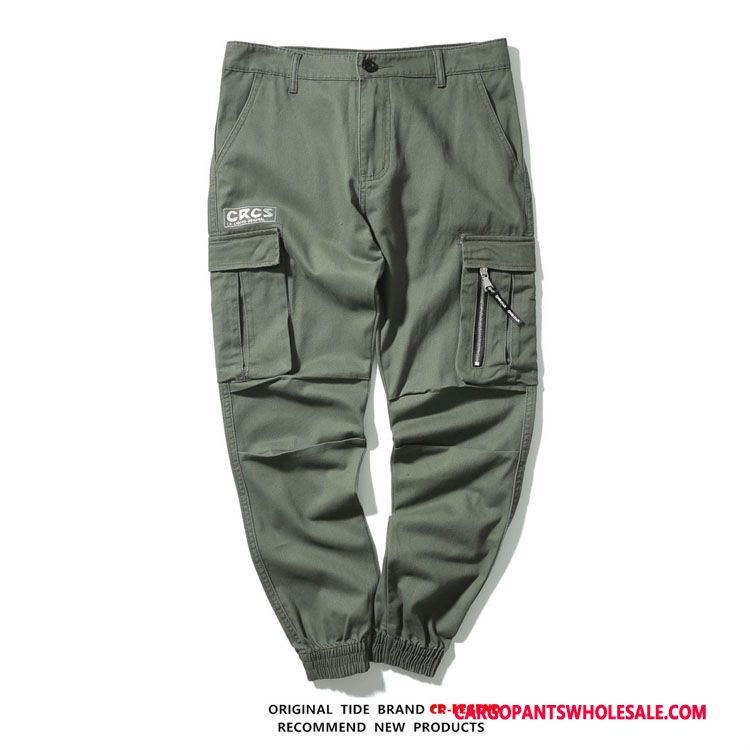 Cargo Pants Male Army Green Casual Pants Spring Trousers Autumn Small