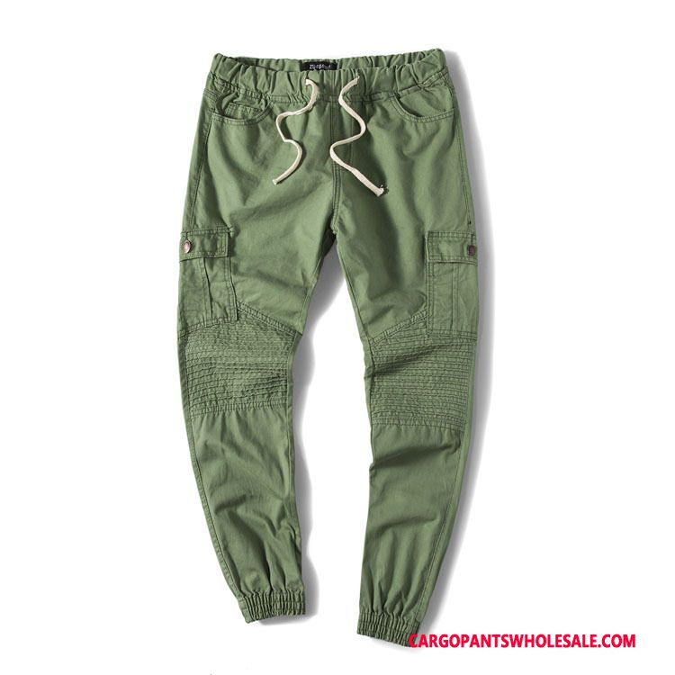 Cargo Pants Male Army Green Cotton Autumn Tether Leisure Washed