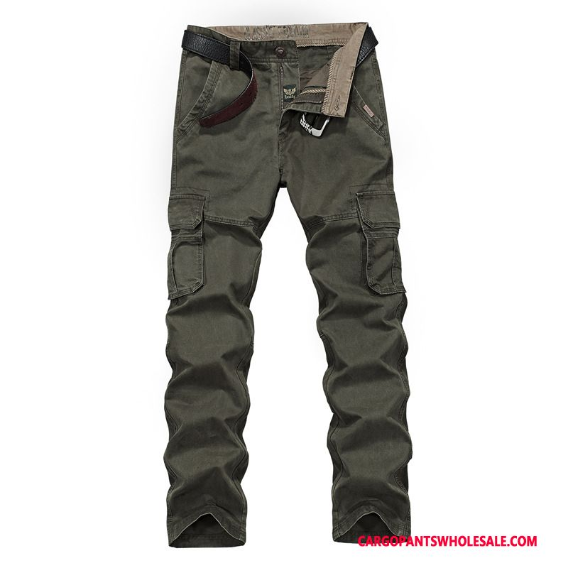 Cargo Pants Male Army Green Cotton Cargo Pants Loose Trousers Casual Pants