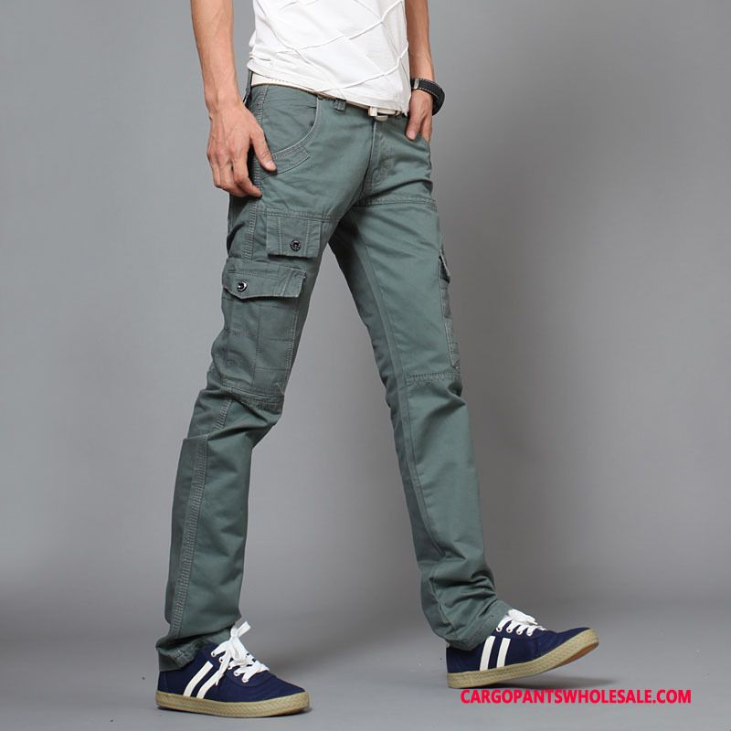 Cargo Pants Male Army Green Fashion Spring Men Autumn Slim Fit Trousers