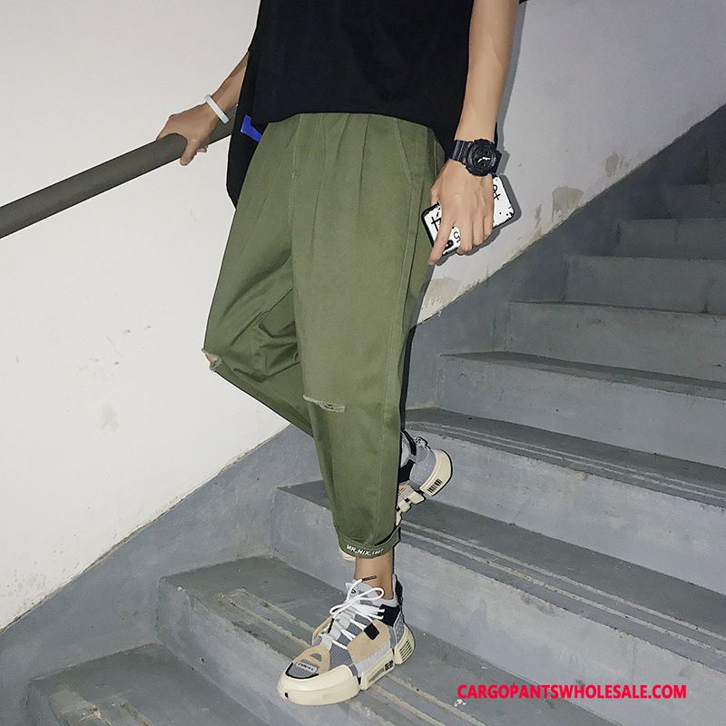 Cargo Pants Male Army Green Green Summer Velcro The New Small Casual Pants