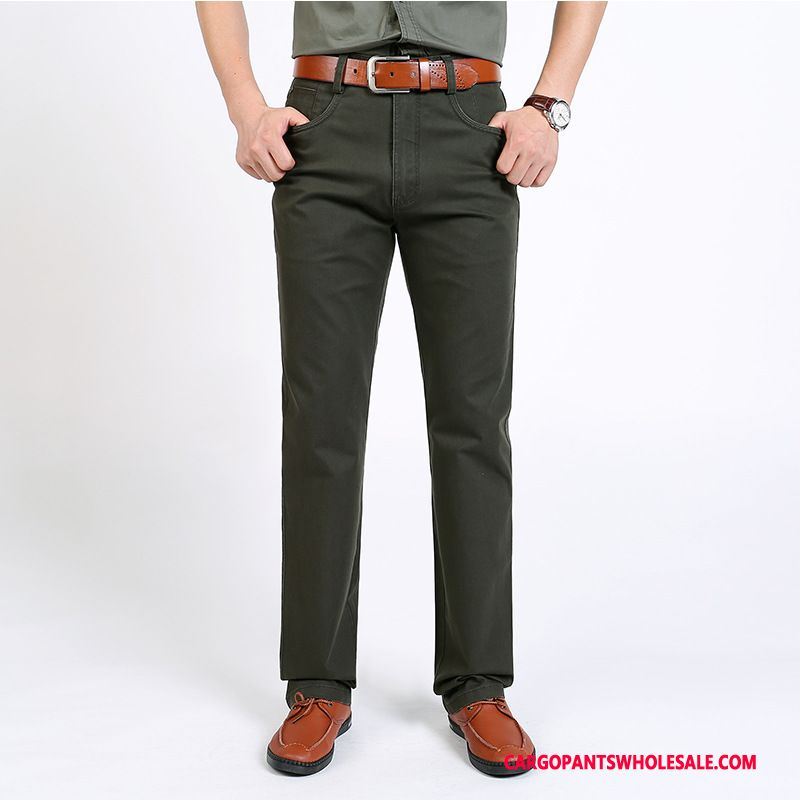 Cargo Pants Male Army Green Leisure Trousers Men Fashion Straight Cargo Pants