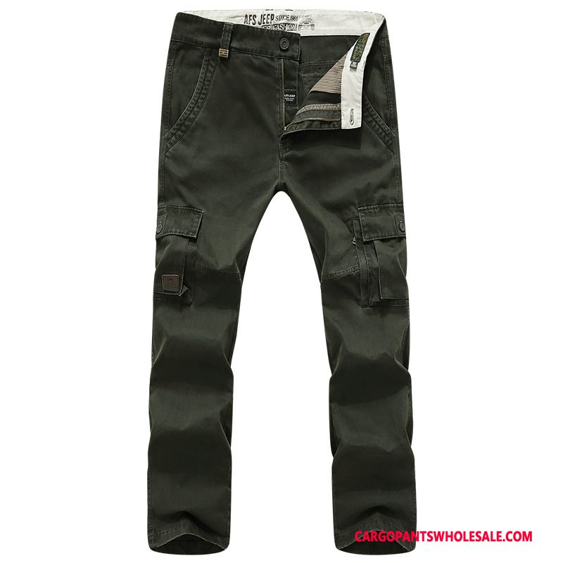 Cargo Pants Male Army Green Leisure Trousers Men The New Autumn Multiple Pockets
