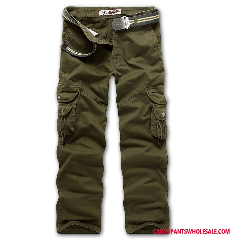 Cargo Pants Male Army Green Loose Outdoor Large Size Leisure Trousers