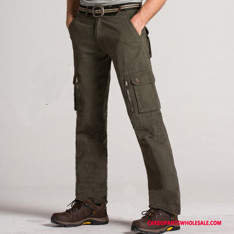 Cargo Pants Male Army Green Solid Color Large Size Men Outdoor Trousers Pants