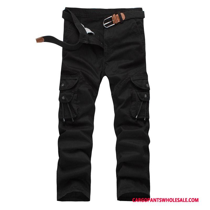 Cargo Pants Male Black All Match Trousers Men Pants Cotton Loose