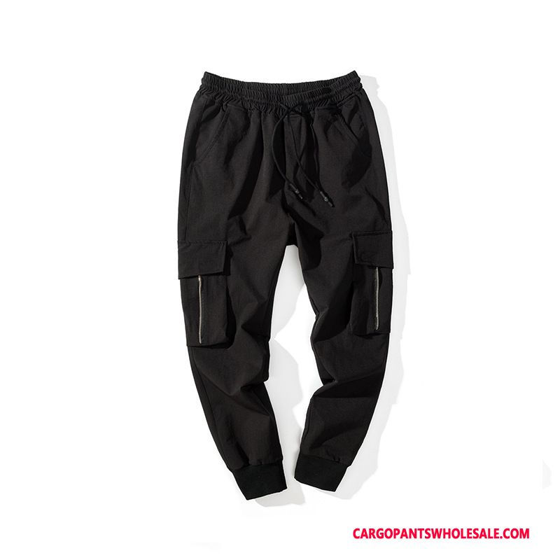 Cargo Pants Male Black Cargo Beam Foot Men Casual Pants Spring Summer