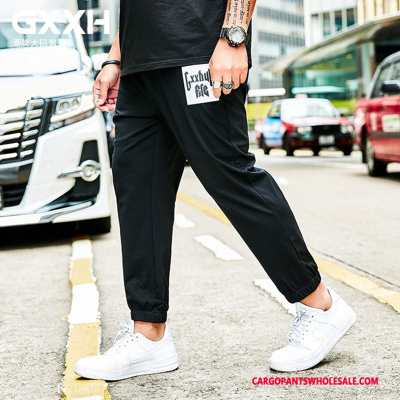 Cargo Pants Male Black Cargo Large Size Men Printing Summer Trousers