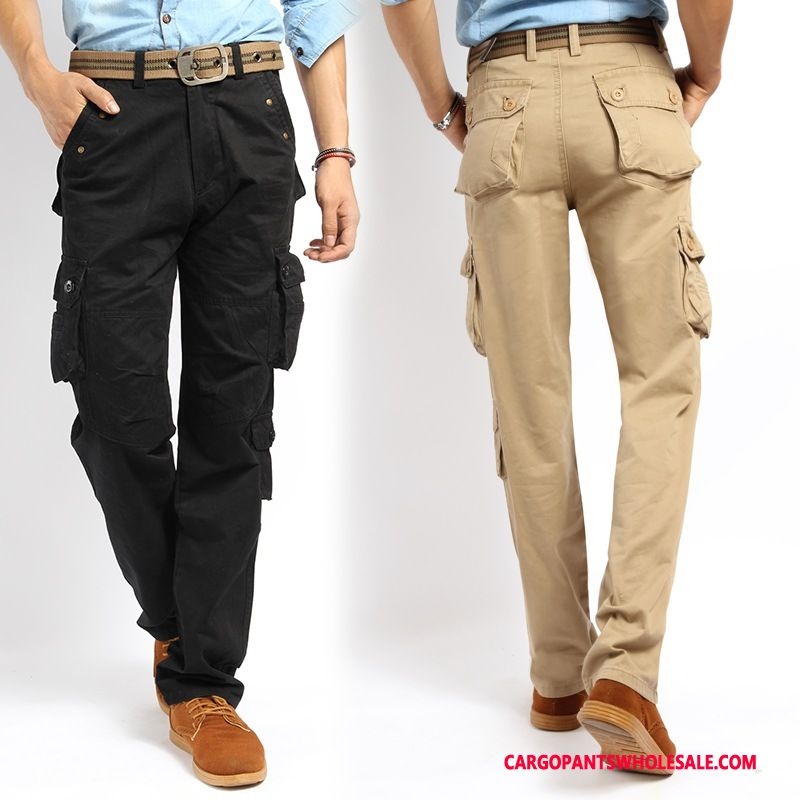 Cargo Pants Male Black Cargo Pants Leisure Men Outdoor Trousers Multi-pocket