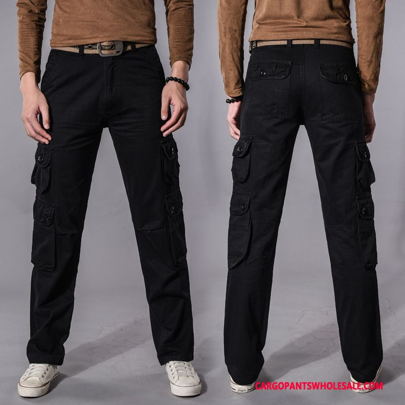 Cargo Pants Male Black Cargo Pants Outdoor Military Motion Cotton