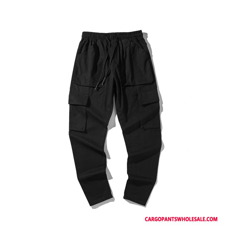 Cargo Pants Male Black Cargo Pants Spring Loose Tide Brand The New